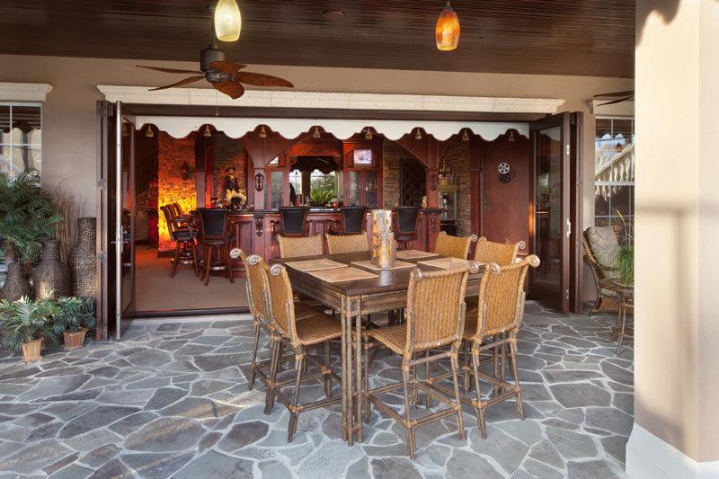 custom patio and indoor bar