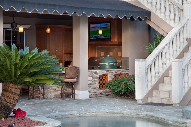 custom pool and patio